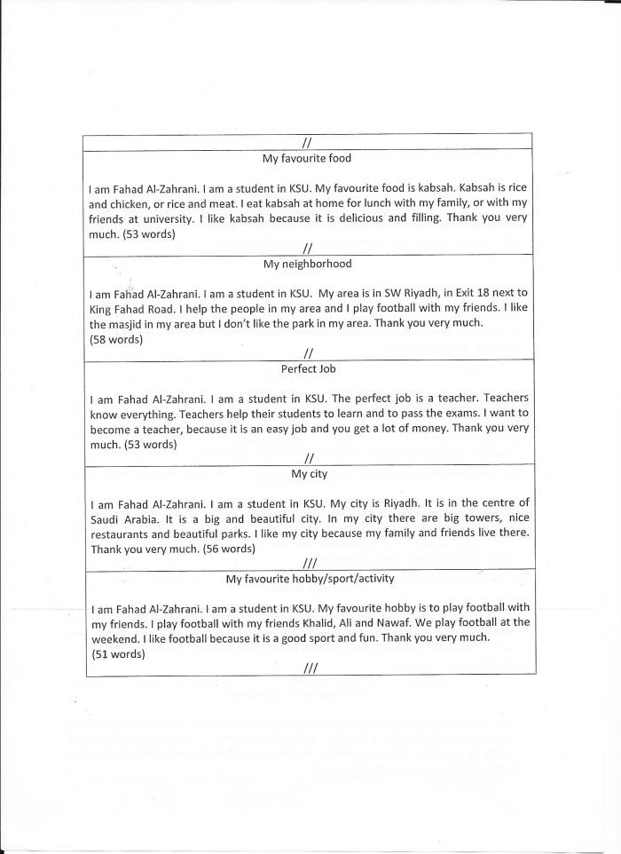 Exam Topics | Help Yourself English